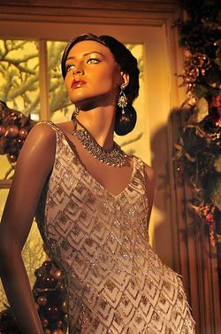 Lord&Taylor window beaded dress