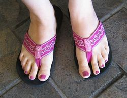 Stylish-pink-flip-flops