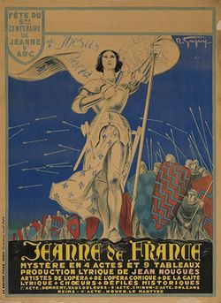 Jeanne de France Joan of Arc poster Swann Galleries