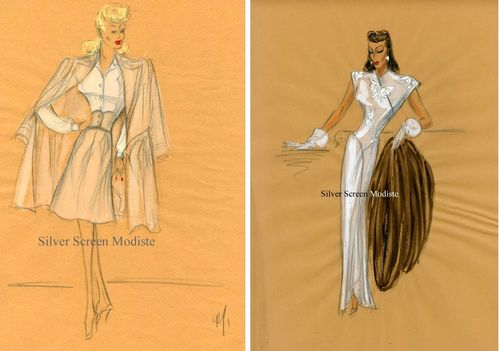 Edith Head sketches