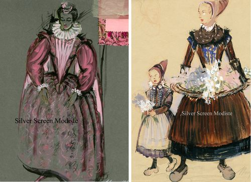Mary Wills costume sketches Virgin Queen Hans Christian Andersen