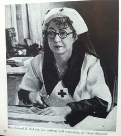 Red Cross volunteer wearing Hope Diamond 1939