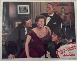 Original lobby card for Adam's Rib [MGM, 1949]; Kent State University Museum, KSUM A2010.3.14, Gift of Christopher P. Sullivan.