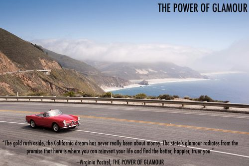 California convertible Pacific Coast Highway Power of Glamour